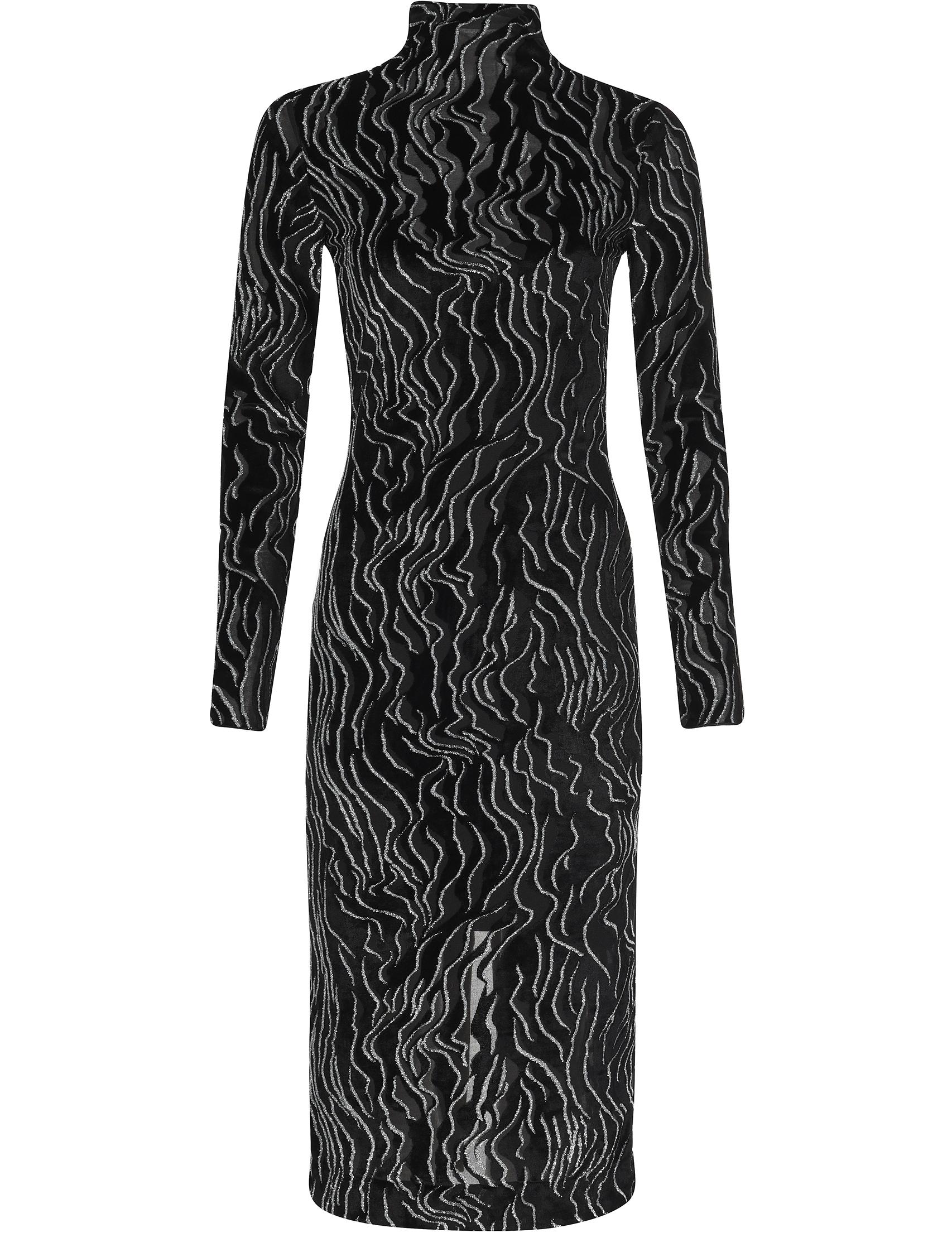 Купить Платье, KENZO, Черный, 50%Вискоза 37%Полиэстер 7%Металлическое волокно 6%Полиамид;95%Вискоза 5%Эластан, Осень-Зима