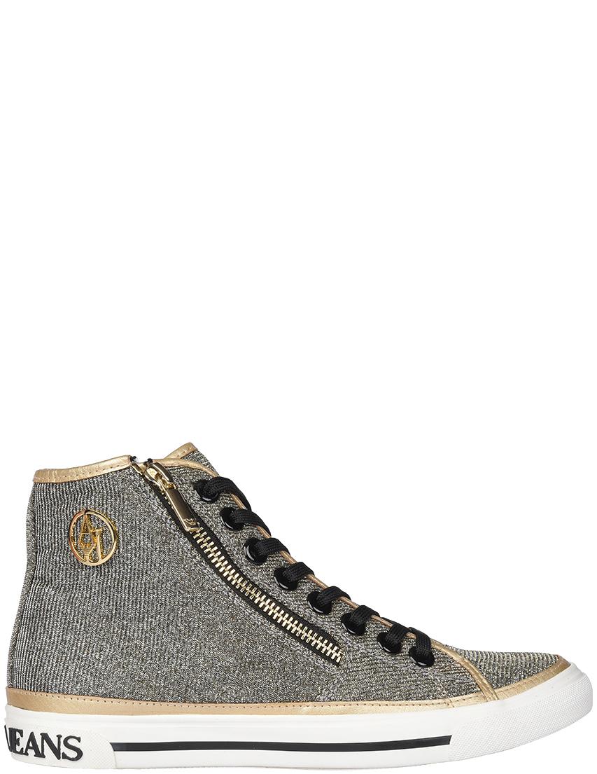 Женские кеды Armani Jeans 7615_silver