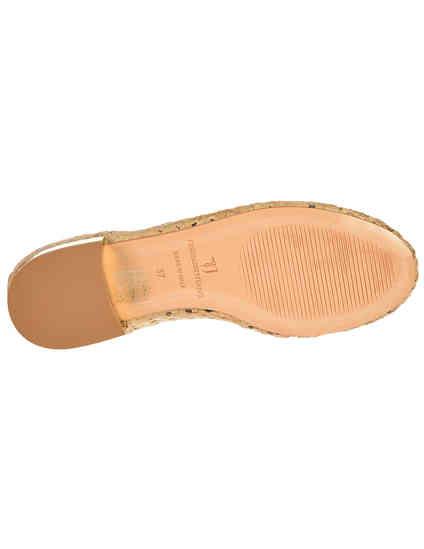 женские бежевые кожаные Балетки Trussardi Jeans 79S576-05_beige - фото-5