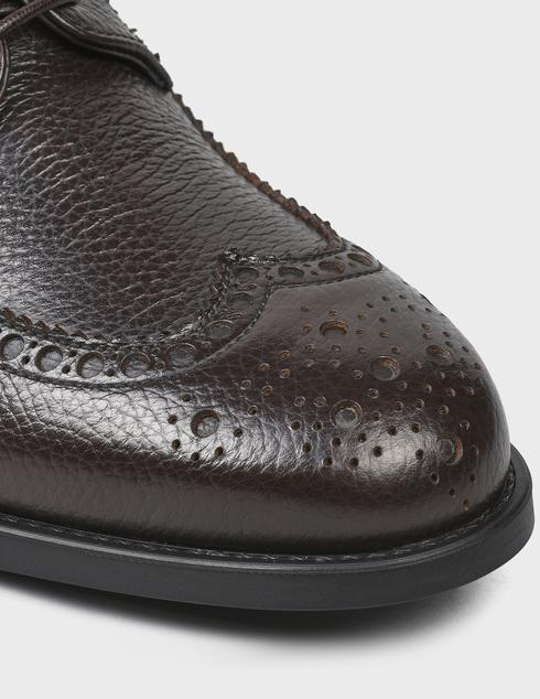 мужские коричневые кожаные Дерби Fabi FU9500AM-801 - фото-5