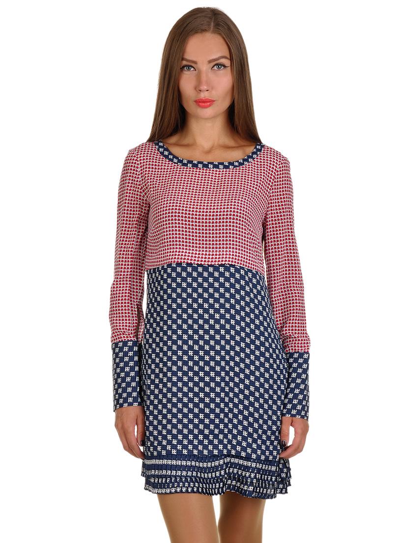 Купить Платье, PATRIZIA PEPE, Многоцветный, 100%Шелк, Осень-Зима
