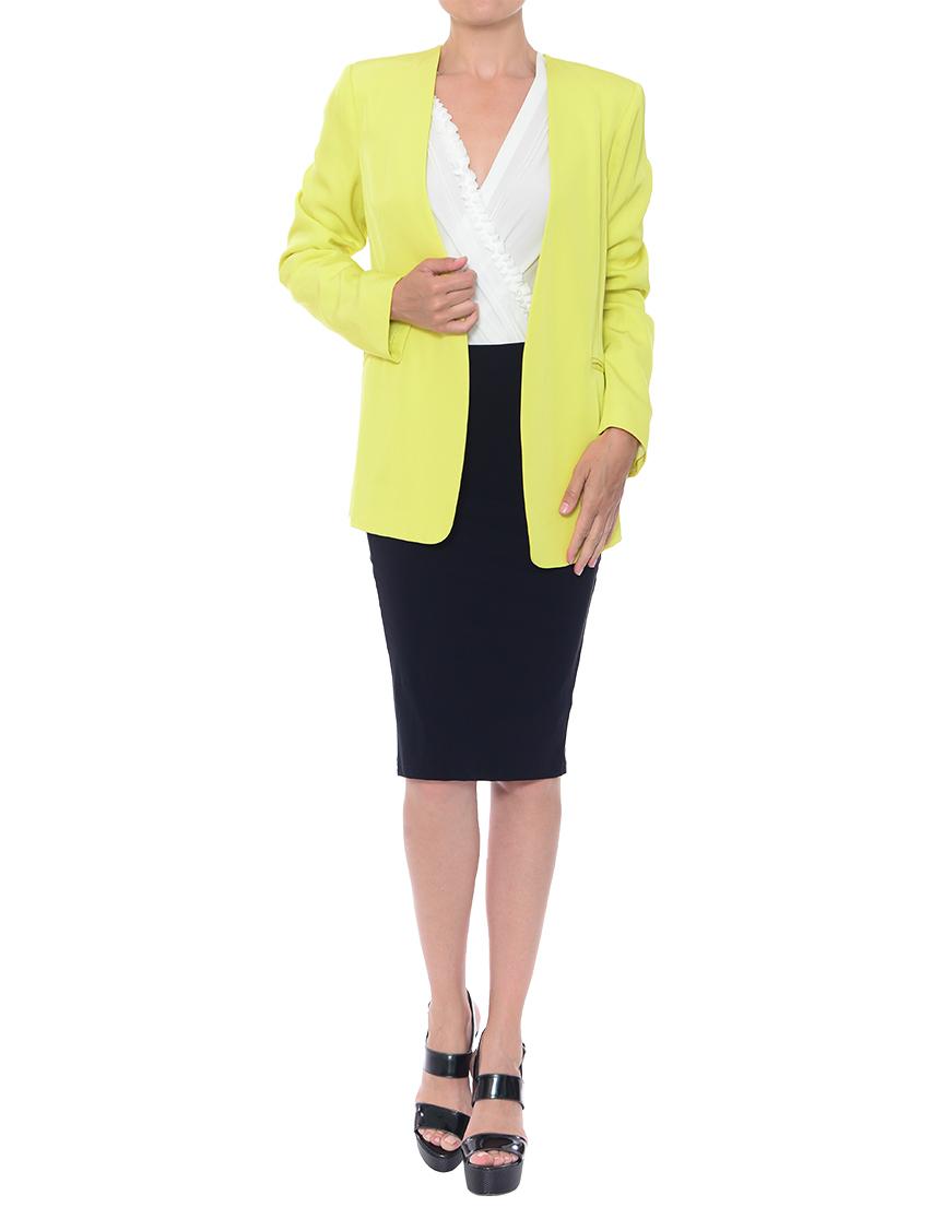 Фото 4 - женский пиджак  зеленого цвета