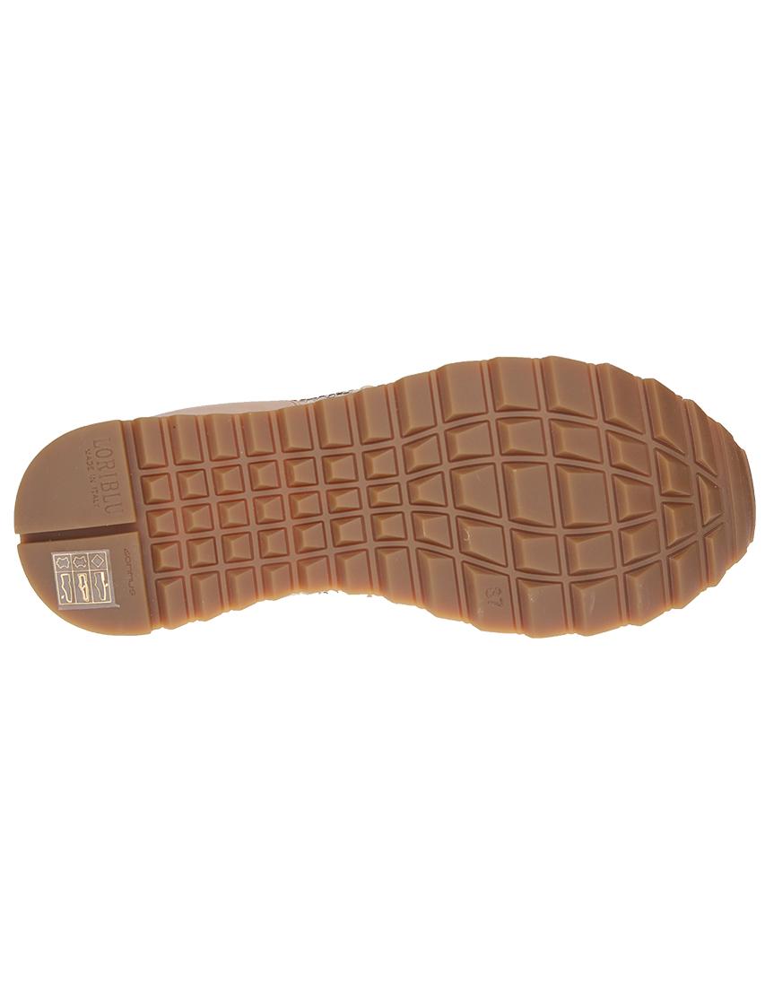 Кожаные бежевые кроссовки LORIBLU (ITALY)