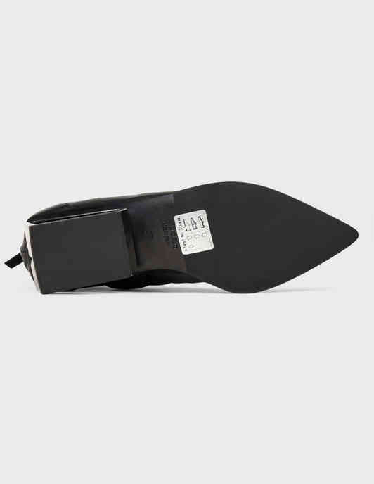 женские черные кожаные Ботильоны Fru.It 6267-black - фото-5