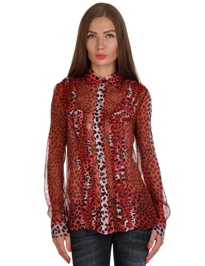 Купить Блуза, BILLIONAIRE, Красный, 100%Шифон, Весна-Лето