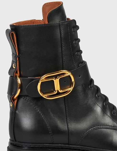 женские черные кожаные Ботинки Elisabetta Franchi SA-25B-16E2-V520-110 - фото-5