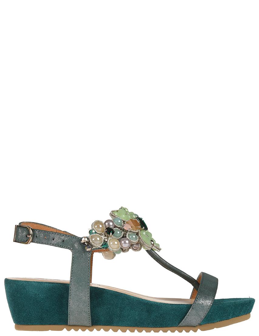 Купить Босоножки, ALMA EN PENA, Зеленый, Весна-Лето