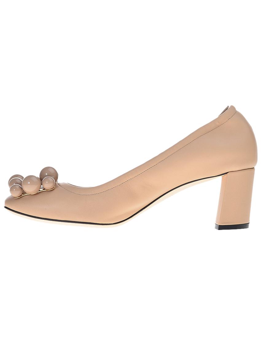 Фото 3 - женские туфли  бежевого цвета