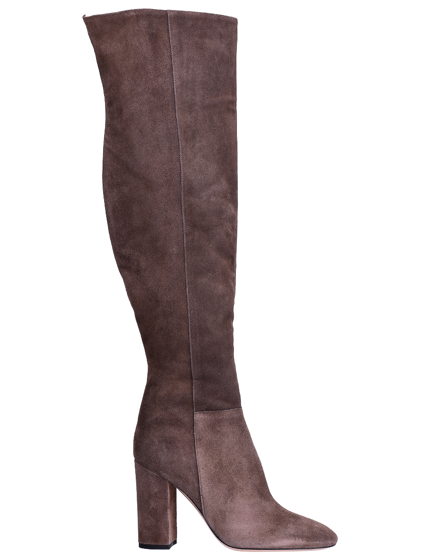 Фото - женские ботфорты  коричневого цвета