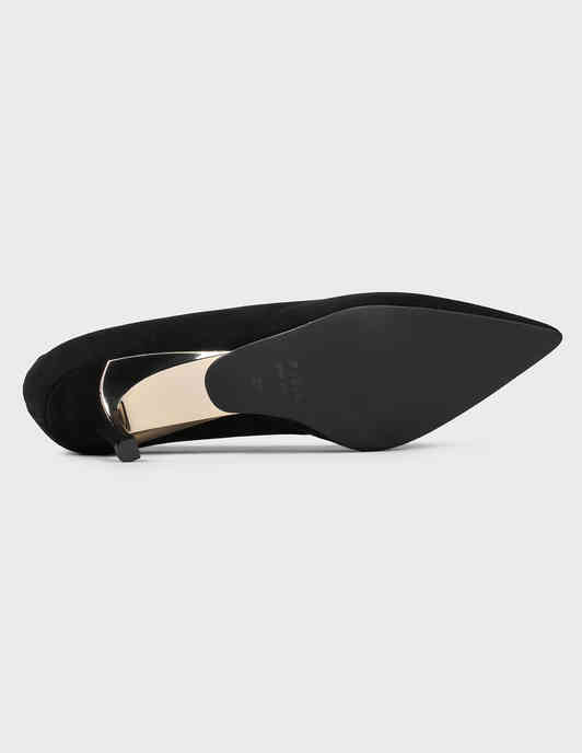 женские черные замшевые Туфли Furla YC43FCD-black - фото-5