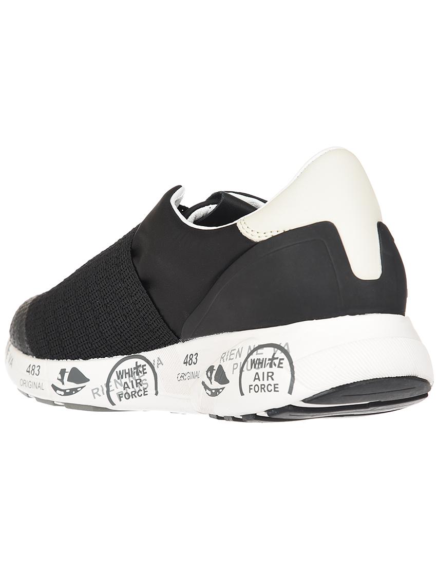 Текстильные чёрные кроссовки PREMIATA (ITALY)