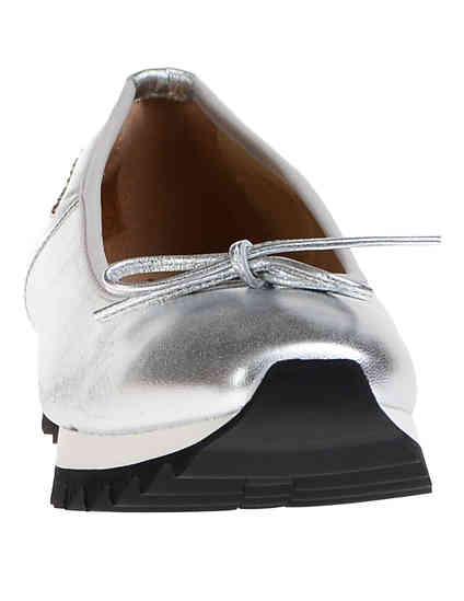 женские серебряные Балетки John Galliano 7906_silver - фото-6