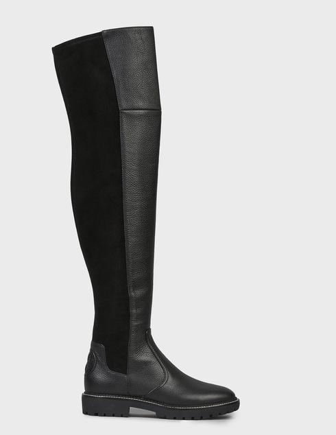 женские черные кожаные Ботфорты Tory Burch 74194-BLACK - фото-5
