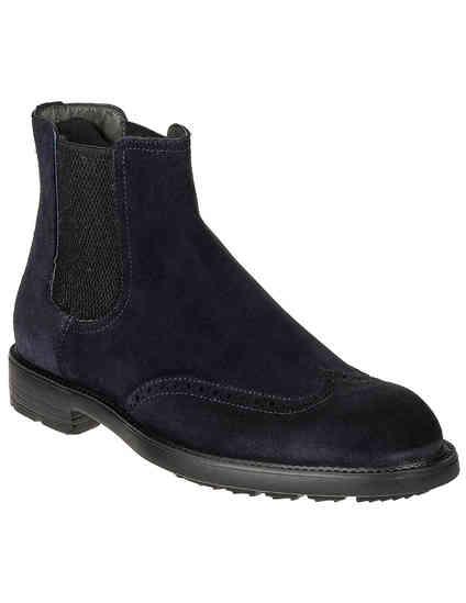 мужские синие Ботинки Moreschi S43249_blue - фото-2
