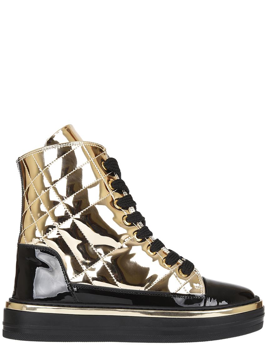 Купить Ботинки, BALDININI, Золотой, Осень-Зима