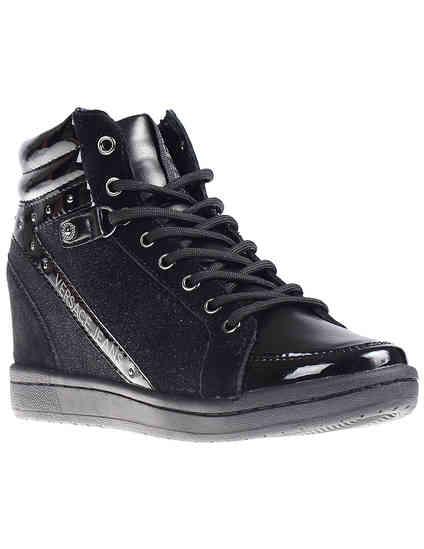 женские черные Сникерсы Versace Jeans VQBSI2-75440-899_black - фото-2