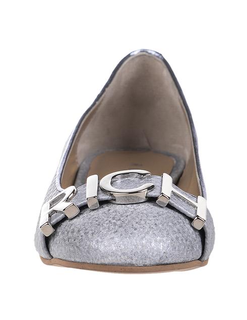 женские серебряные кожаные Балетки Richmond 8172 - фото-5
