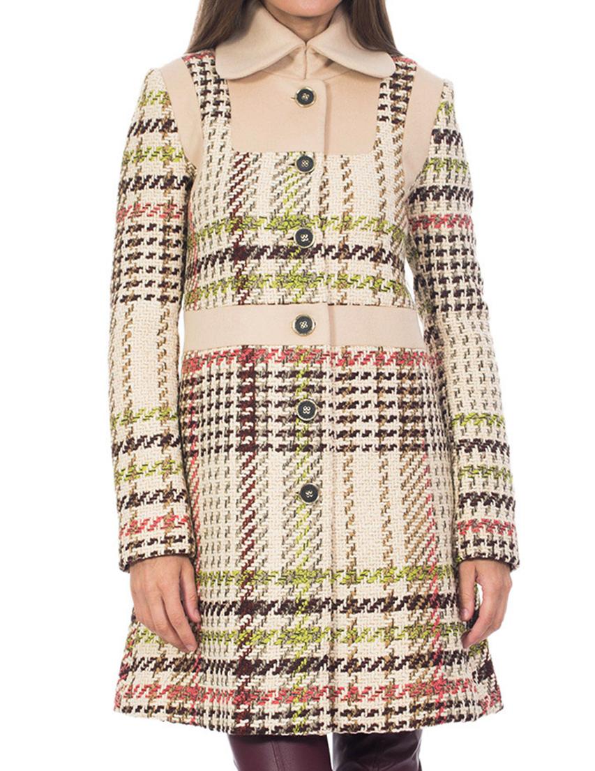 Купить Пальто, PATRIZIA PEPE, Бежевый, 5%Кашемир 75%Лана 20%Полиамид, Осень-Зима