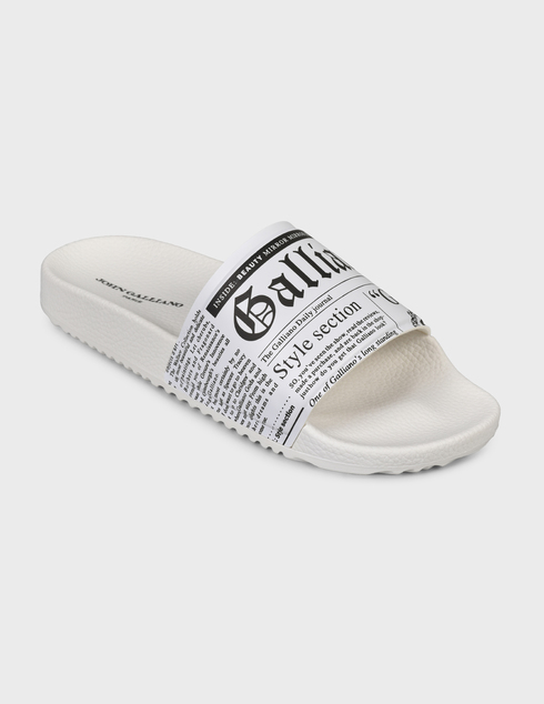 белые Шлепанцы John Galliano 11172B