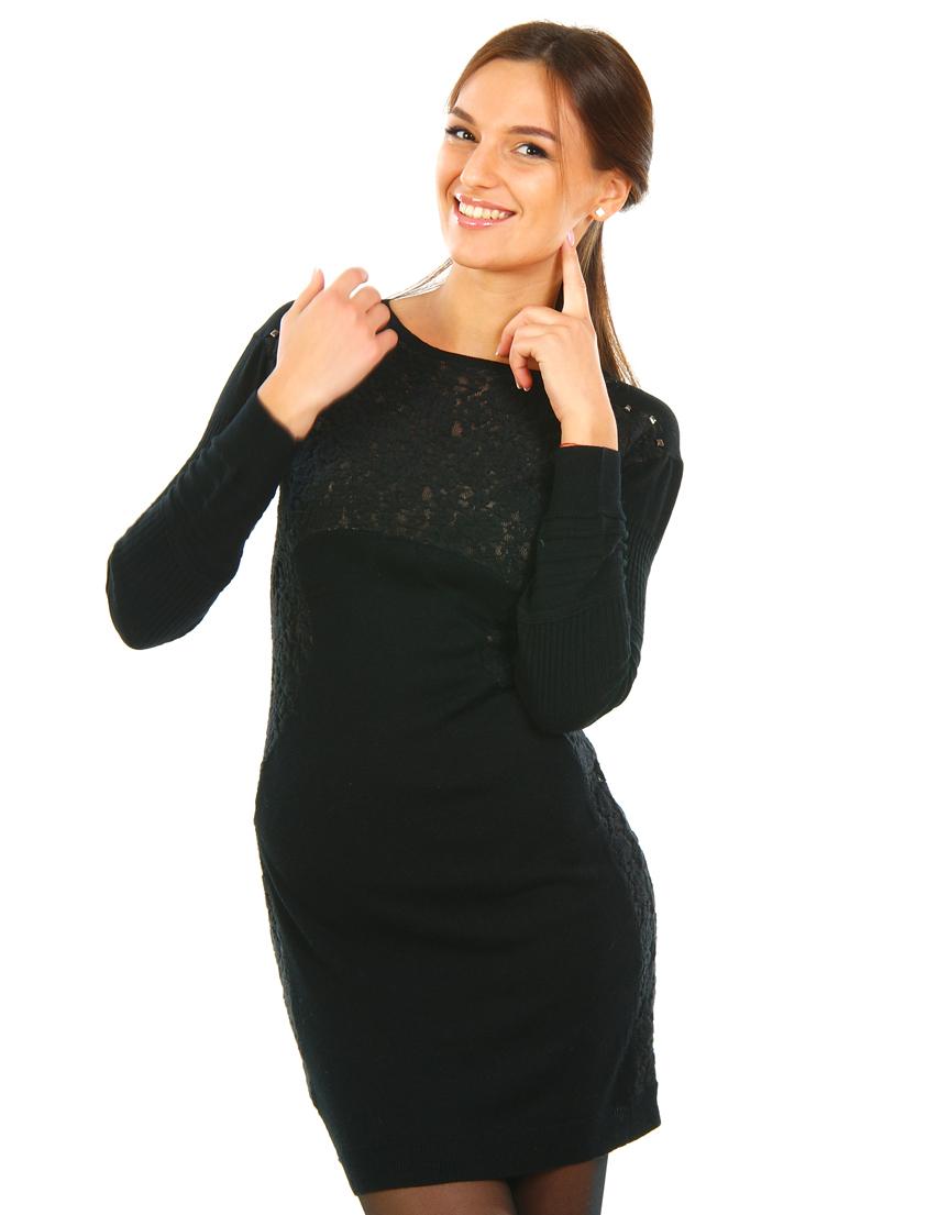 Купить Платье, PATRIZIA PEPE, Черный, 10%Кашемир 70%Лана 20%Шелк, Осень-Зима