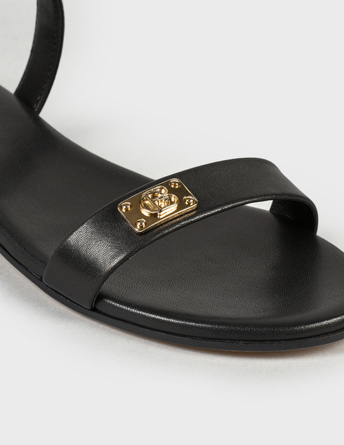 женские черные кожаные Босоножки Baldinini 199040XVITE0000000KXX - фото-5
