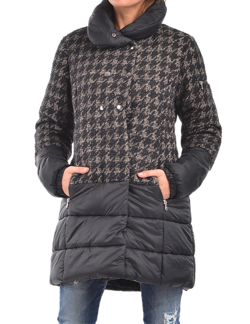 Купить Пальто, PATRIZIA PEPE, Черный, 15%Хлопок 8%Вискоза 51%Лана 17%Полиамид 9%Полиэстер, Осень-Зима