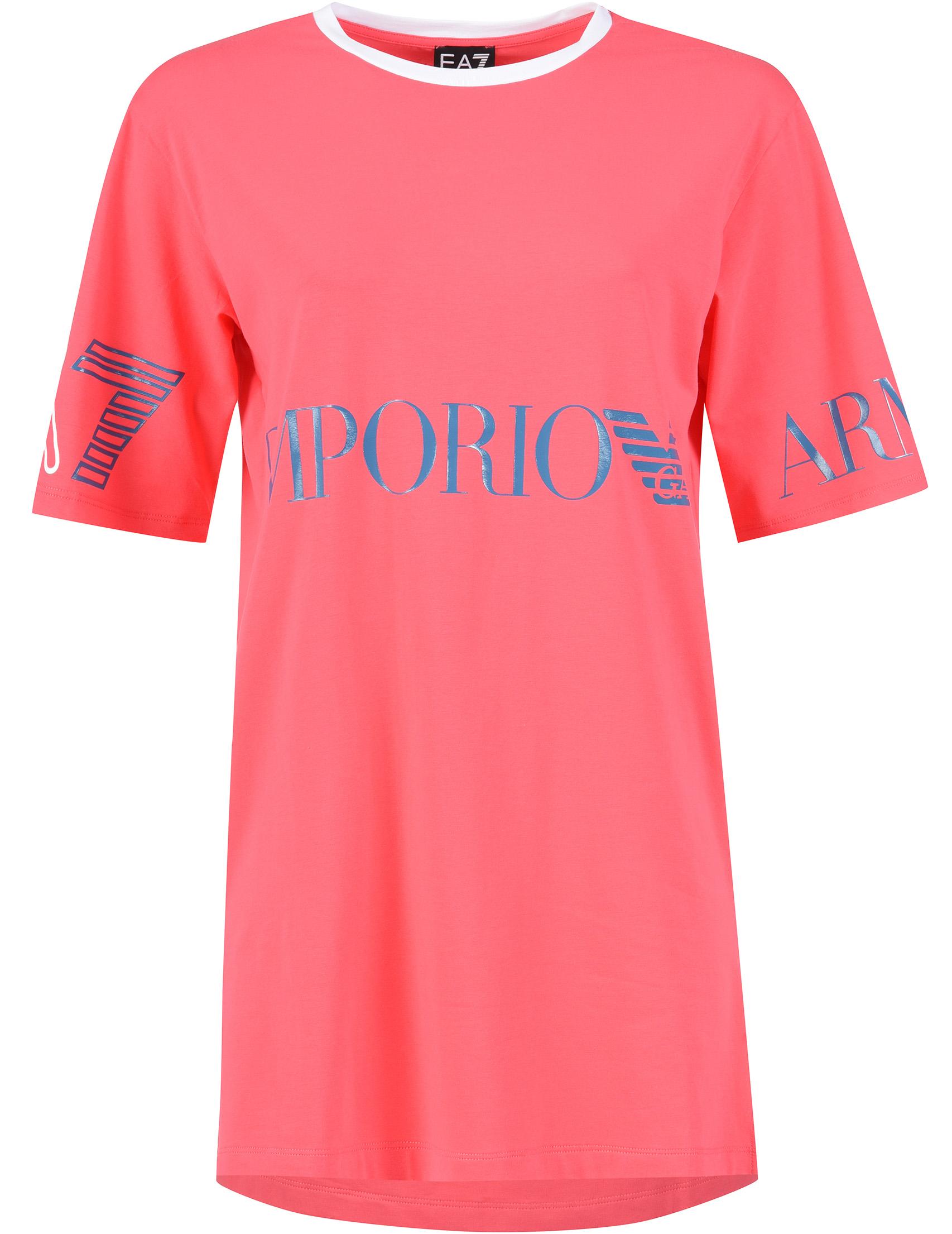 Купить Платья, Платье, EA7 EMPORIO ARMANI, Розовый, 95%Хлопок 5%Эластан, Весна-Лето
