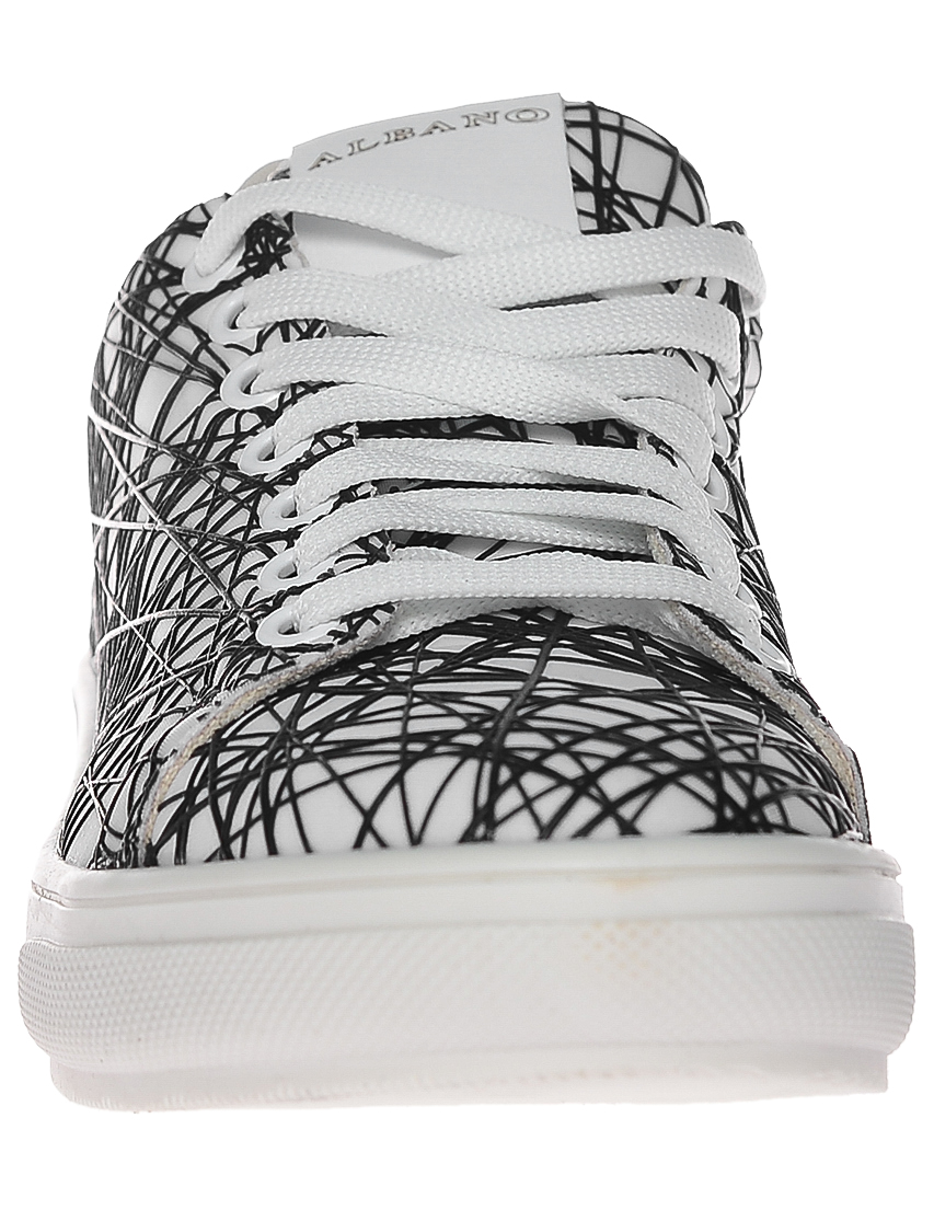 Фото 4 - женские кроссовки  белого цвета