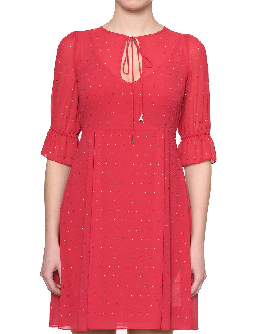 Купить Платье, PATRIZIA PEPE, Красный, 100%Полиэстер, Весна-Лето