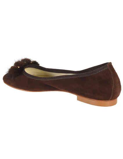 коричневые женские Балетки Ester 508_brown 2294 грн