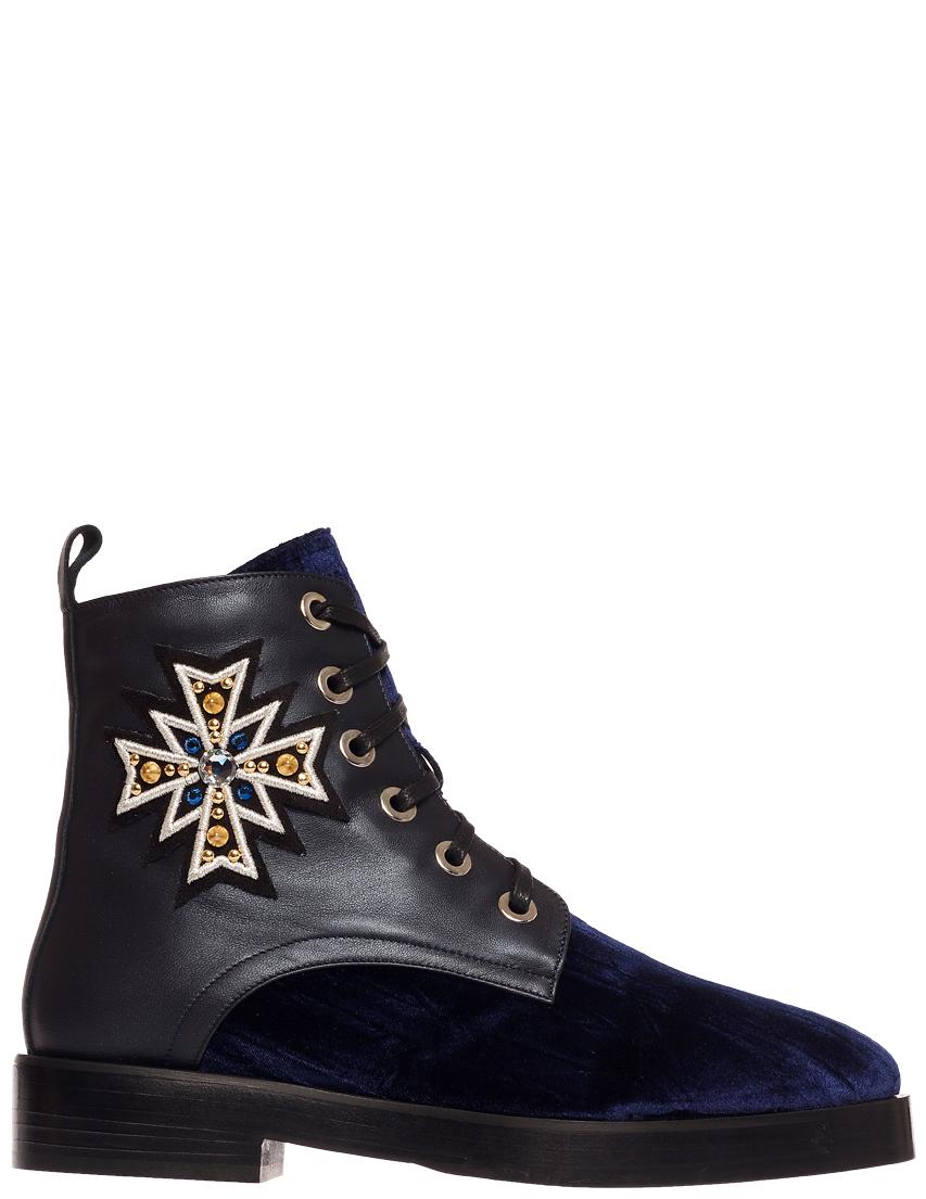 Купить Ботинки, EDDY DANIELE, Синий, Черный, Осень-Зима