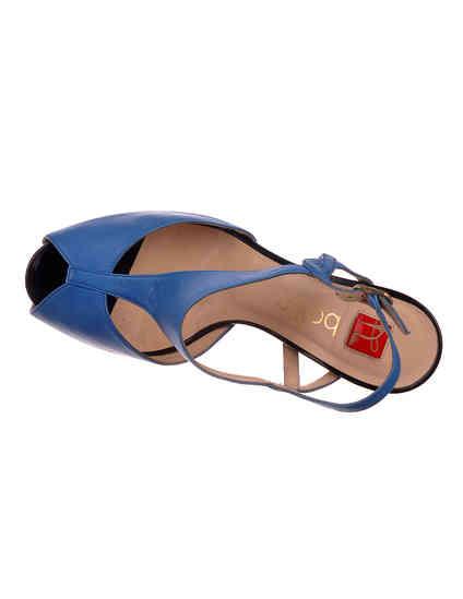 женские синие кожаные Босоножки Ballin 921315 - фото-5
