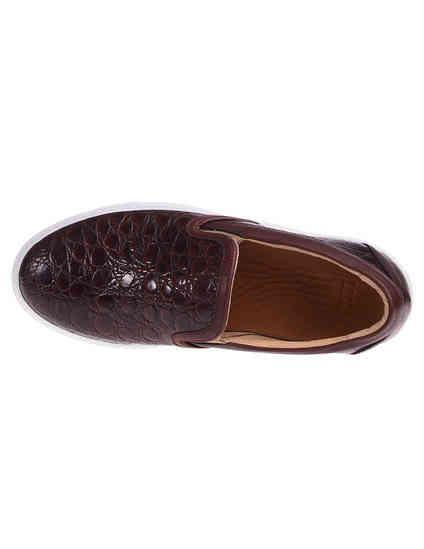 женские коричневые Слипоны MCM 85111_brown - фото-7