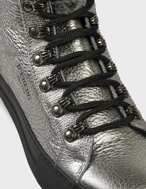 женские серебряные Ботинки Iceberg AGR-ID1758A - фото-6