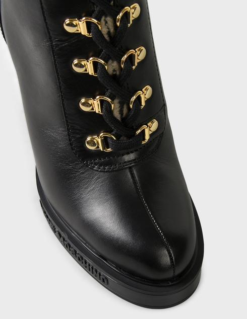 женские черные кожаные Ботинки Love Moschino JA2129AH0DIAP00A - фото-5