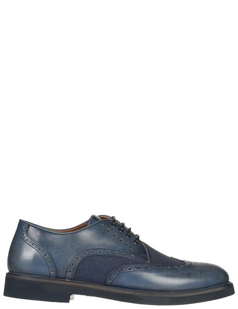 мужские синие кожаные Броги Franceschetti 4033016-navy - фото-5
