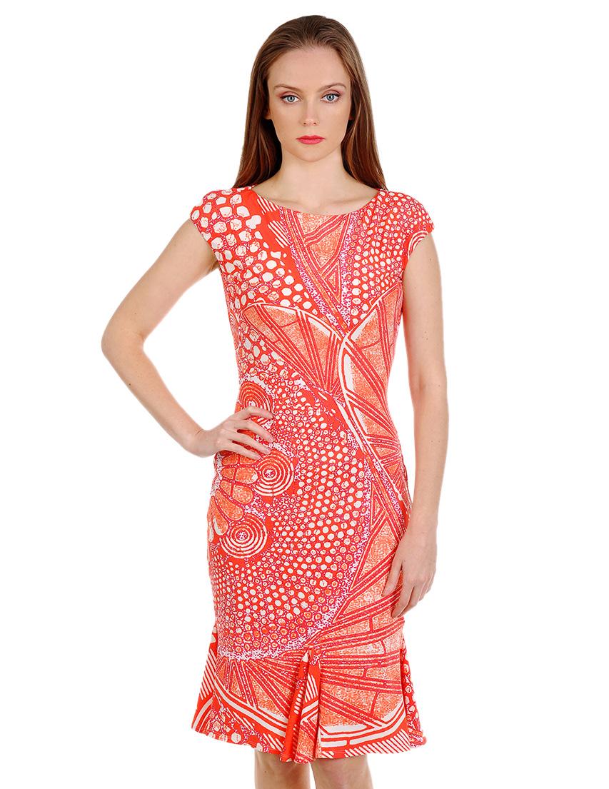Купить Платье, ROBERTO CAVALLI, Красный, 88%Полиамид 12%Эластан, Весна-Лето