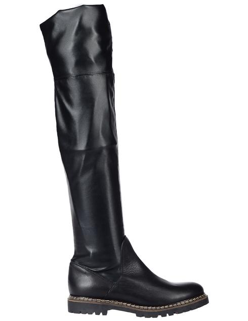 женские черные кожаные Ботфорты Griff Italia 608_black - фото-5