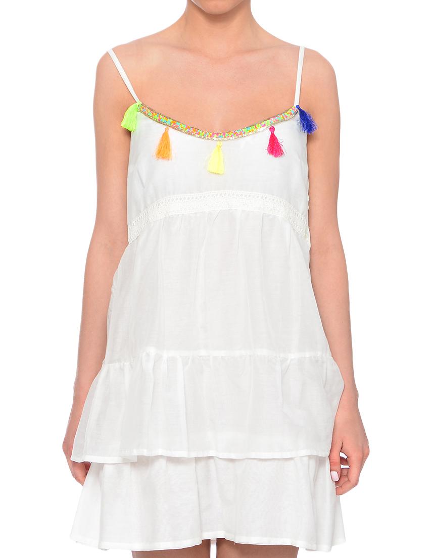 Купить Платье, PATRIZIA PEPE, Белый, 100%Хлопок, Весна-Лето