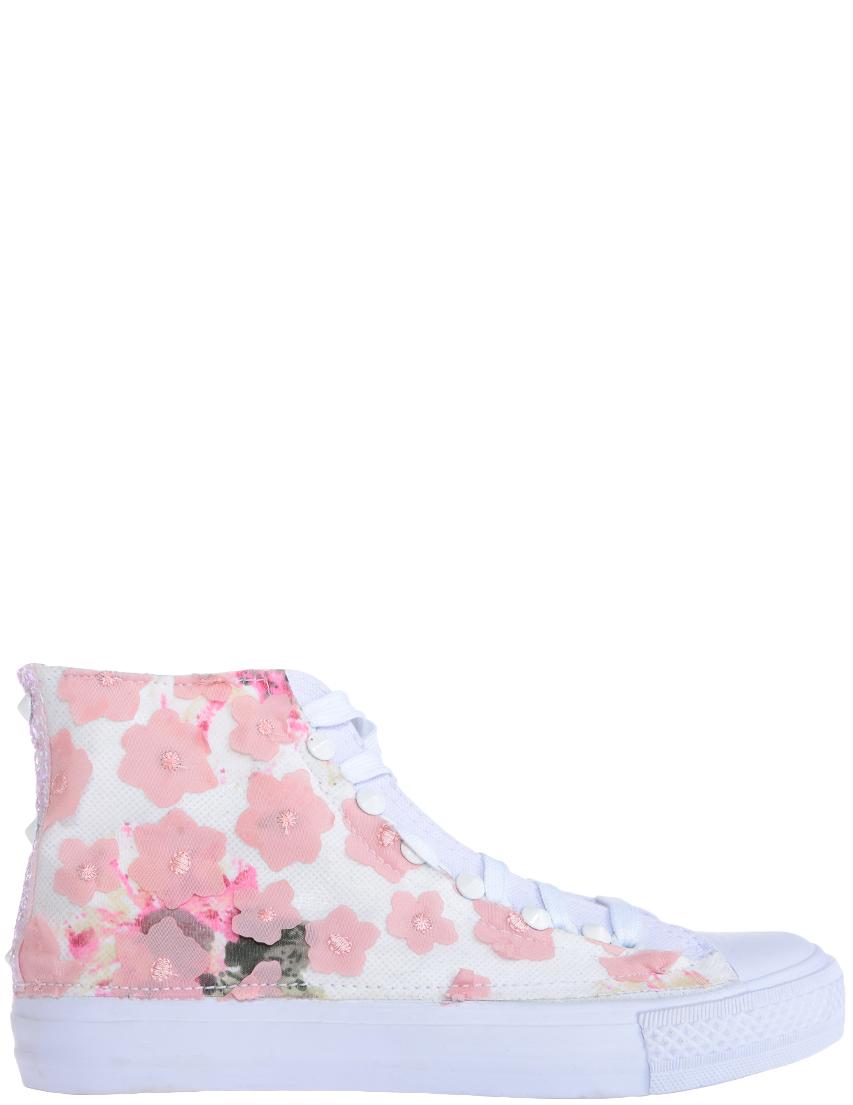 Купить Кеды, NILA & NILA, Белый, Розовый, Весна-Лето