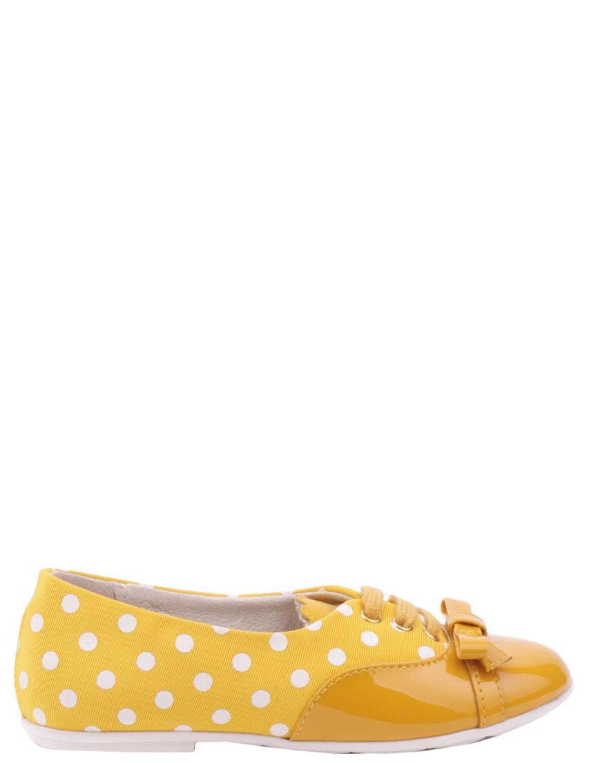 Детские туфли для девочек MOSCHINO 25465-yellow