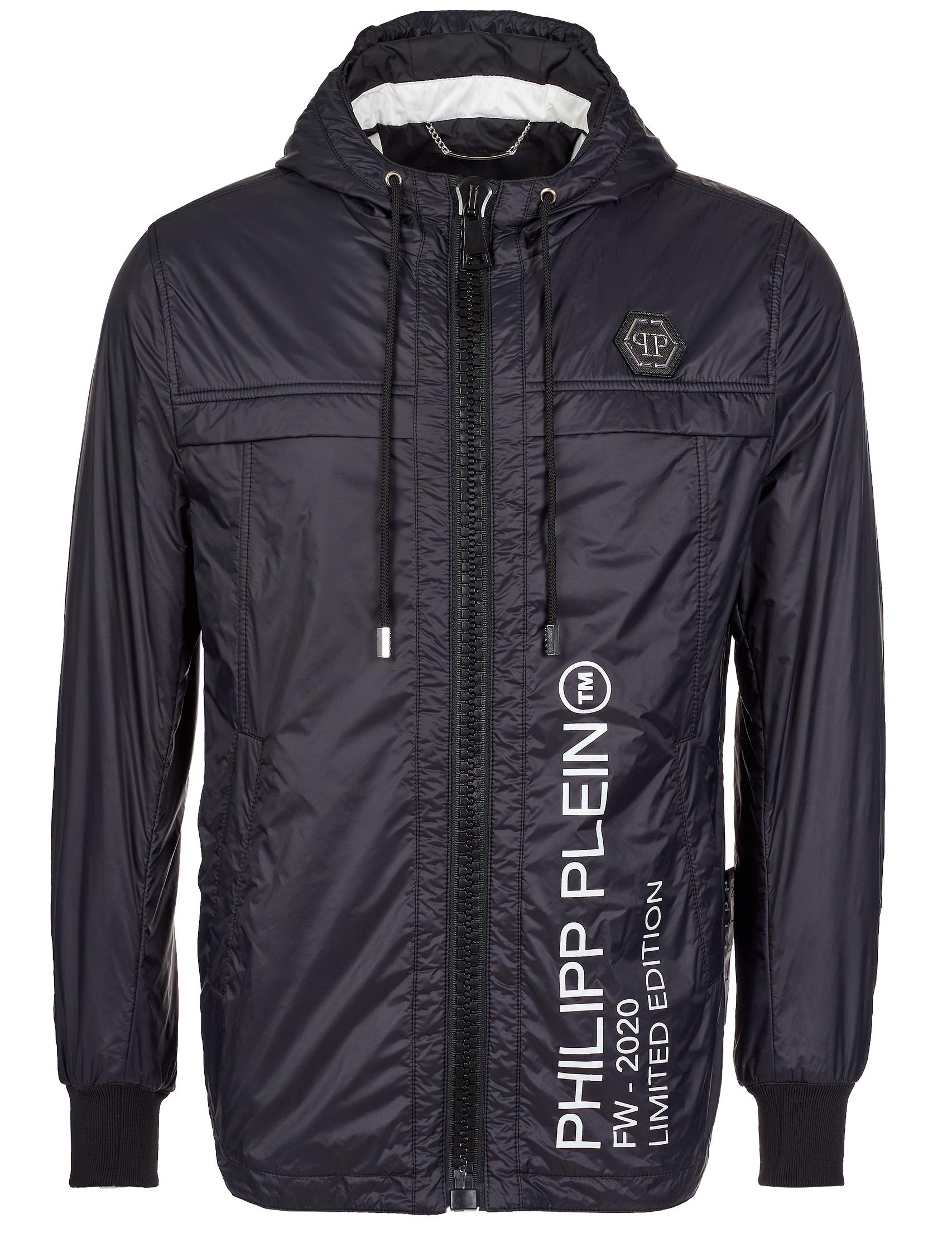 Купить Куртки, Куртка, PHILIPP PLEIN, Черный, 100%Полиэстер, Осень-Зима