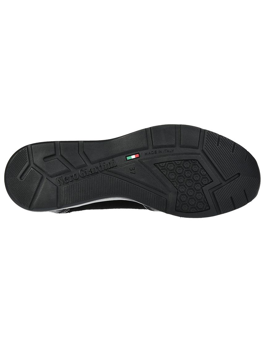 Кожаные чёрные кроссовки NERO GIARDINI (ITALY)