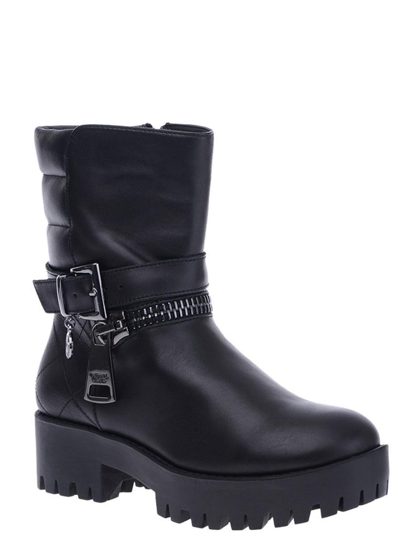 Фото 2 - женские ботинки и полуботинки  черного цвета