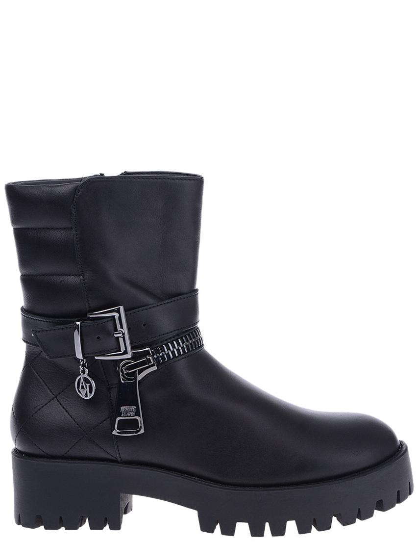 Купить Ботинки, ARMANI JEANS, Черный, 100%Кожа, Осень-Зима