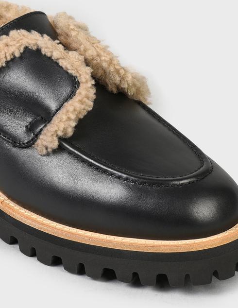 женские черные кожаные Ботинки Le Silla AGR-5182T020-NERO - фото-5