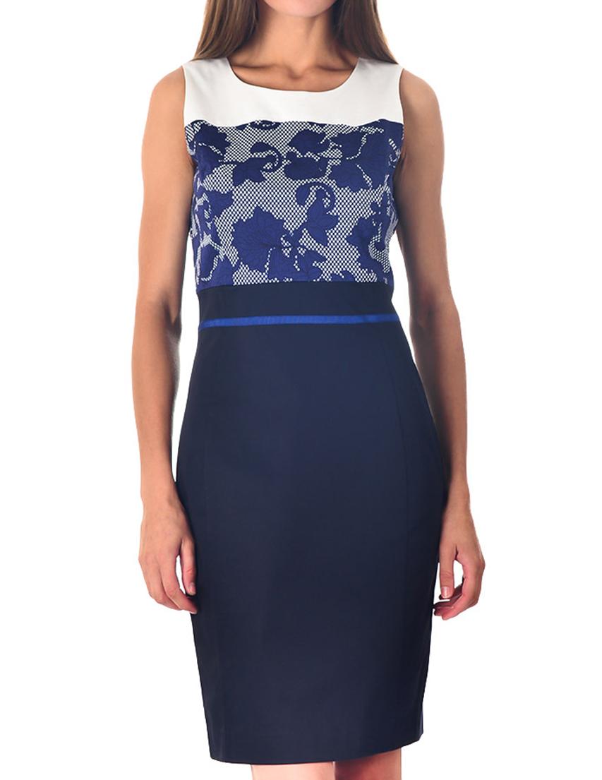 Купить Платье, ARMANI JEANS, Многоцветный, 98%Хлопок 2%Эластан, Весна-Лето