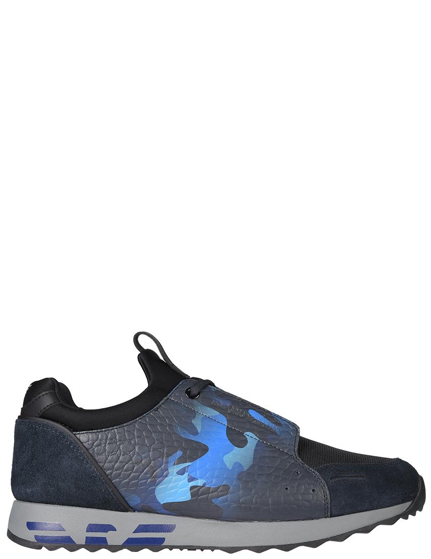 Мужские кроссовки Emporio Armani 241-blu_blue