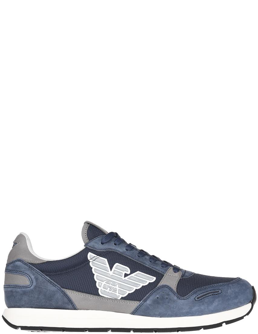Мужские кроссовки Emporio Armani 215_blue
