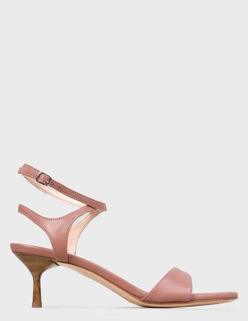 женские розовые кожаные Босоножки Agl D657002PCKB074D109 - фото-5